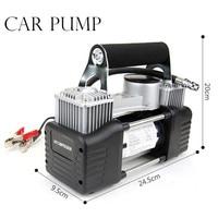 Wholesale 12v Air Compressor 150PSICar Tyre Inflator Double Cylinder Metal Car Tire Inflator MINI High Pressure Air Pump