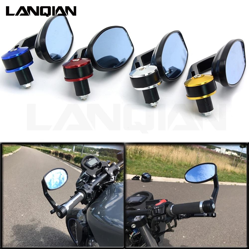 Universal 22MM 7/8 CNC Motorcycle Side Mirrors Rear View Mirror For Honda cbr r1 yamaha mt 07 mt09 r1200gs mt10 mt03 yfz r6 r3