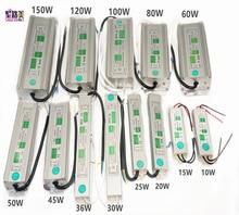 цена на Led Driver Transformer Power Supply Adapter AC110-260V to DC12V/24V 10W- 100W Waterproof Electronic outdoor IP67 led strip lamp