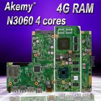 AKemy X541SC MB._ 4G/N3060/ALS V1G 90NB0CI0-R00040 Mainboard Für For Asus X541S X541SC Laptop motherboard 100% getestet