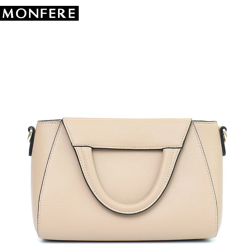 MONFERE Fashion Women Handbag Genuine Leather Messenger Bag Women Crossbody Shoulder Bags Famous Brand Female Top Handle Handbag monfere 100% genuine leather bucket bag women 2018 casual top handle shoulder bags brand designer ladies crossbody messenger bag