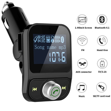 цена на 4 in 1 Car MP3 Player Bluetooth FM Transmitter with Car Charger 3.1A USB Quick Charging Port Dual USB Handsfree Cars Kit Charger