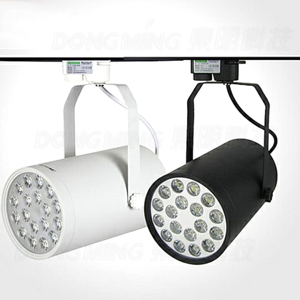5pcs boutique store clothing shop stage track lighting black white 18w led track light spotlight business lamp