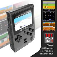 """DATA FROG Retromax - 8 Bit with 181 Games - 3"""" LCD 1"""