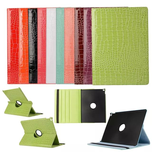 360 Degree Rotating Luxury Crocodile Grain PU Leather Case For Apple Ipad Pro 12.9 inch Tablet Luxury Smart Cover Stand Flip luxury 100