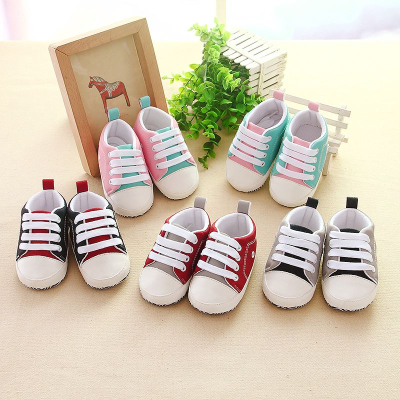 Spring Autumn Baby Boy Girl Soft Bottom Shoes First Walkers Cotton Sneakers Shoes 0-18M