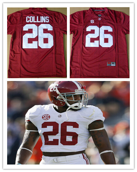 online retailer 8c530 c7ff0 US $48.99 |#26 Landon Collins Alabama Crimson Tide Football Jerseys,Custom  Alalama College Football Jersey Stitched Logo Red White-in America Football  ...