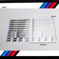 10 set Newest Car Decoration ///M Performance Stickers Decals for BMW X1 X3 X5 X6 3series 5 Series 7 Series