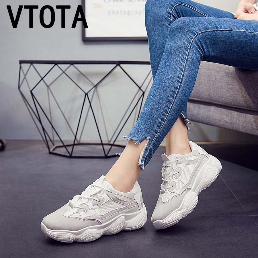 0cc46eef7e81 VTOTA White Sneakers Women Shoes Platform Wedges Casual Shoes 2018 Designer  Sneakers Women Baskets Femme Women Trainers K33-in Women s Vulcanize Shoes  from ...