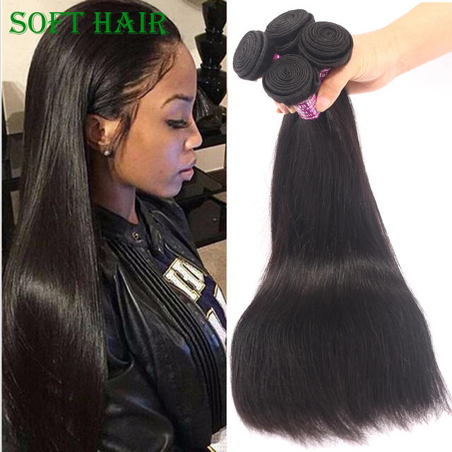 Natural Black King Queen Hair Unprocessed Chinese Hair Weave 3