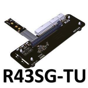 M.2 key M NVMe External Graphics Card Stand Bracket with PCIe3.0 x4 Riser Cable 25cm 50cm 32Gbs For ITX STX NUC VEGA64 GTX1080ti(China)