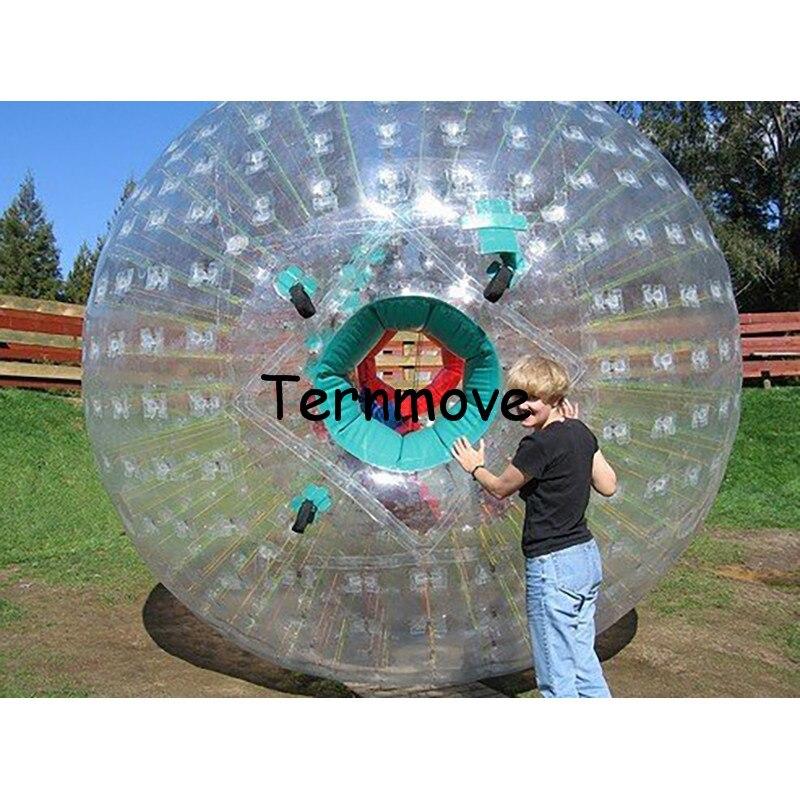 zorb ball 3M diameter human hamster balls 0.8 mm PVC material rolling human hamster aqua zorbing ball land grass zorb balls aqua m 3