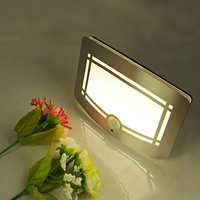 Aluminum Battery Operated Wireless IR Motion Sensor LED Wall Night Light Porch Night Lamp Motion Sensor
