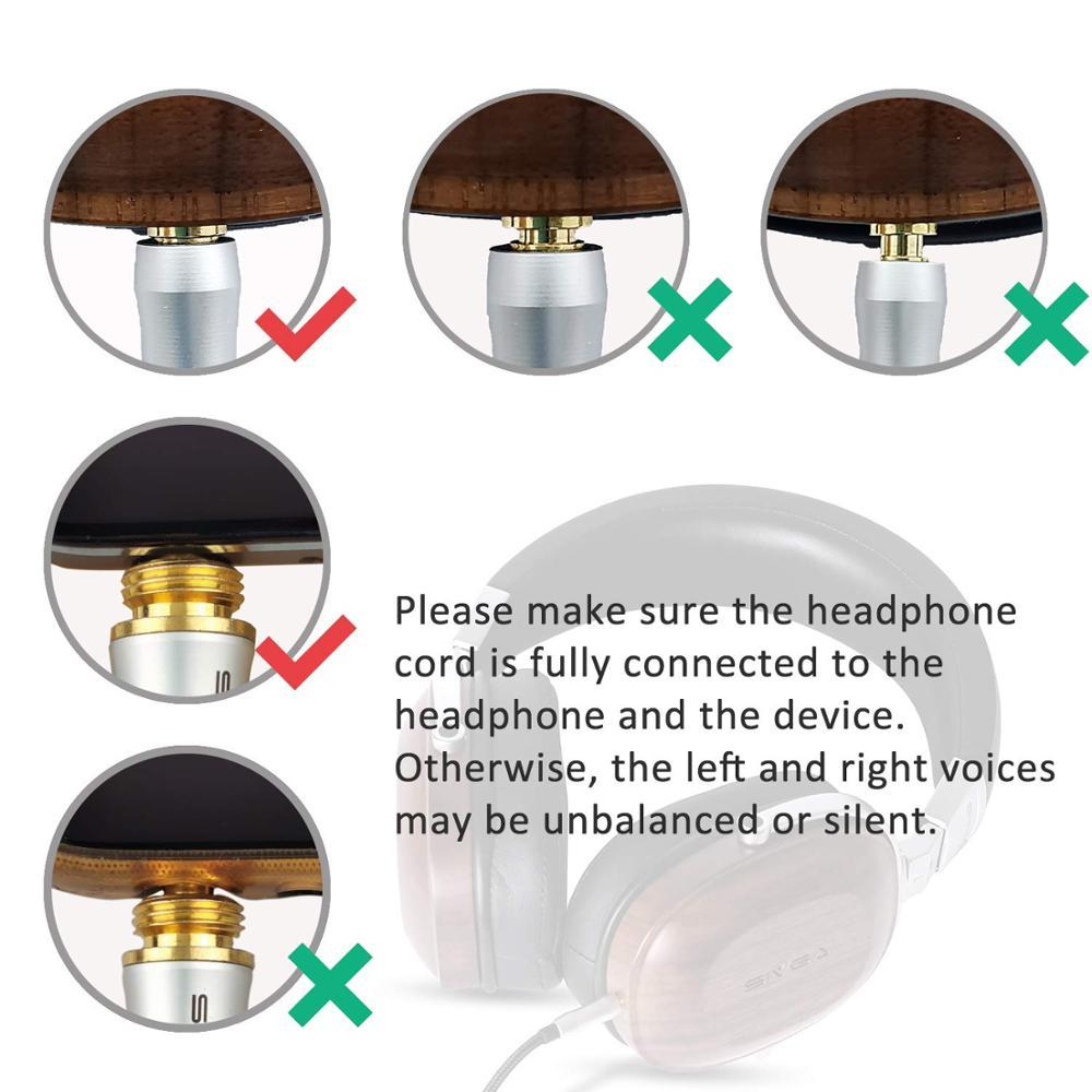 SIVGA SV007 Houten BASS HIFI Stereo Noise Isoliation Over ear DJ Dynamische Wired Hoofdtelefoon met Microfoon - 6