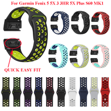 26mm 22mm  Soft Silicone Band For Garmin Fenix 3/Fenix 3 HR /Fenix 5 5X/935  Wristband Quick release Bracelet strap Watch Bands 26mm 22mm silicone bands for garmin fenix 3 fenix 3 hr fenix 5 5x wristband quick fit band sport bracelet strap