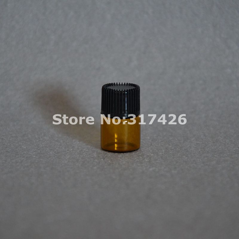 Small Amber Essential Oil Bottle With Plastic Lid,1ml Glass Bottle, Mini Brown Glass Vials,Mini Glass Container free shipping 10pcs 2ml mini amber glass bottle with orifice reducer and cap small essential oil vials