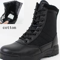 Winter Cotton Warm Outdoor Army Snow Boots Men's Military Tactical Boot Autumn Hiking Sport Work Mountain Climbing Shoes