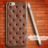 Coque Ice Cream Sandwich Soft Clear TPU Case For IPhone 6 6S 7 Plus 5S SE