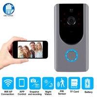 Wireless Video Doorbell Smart WiFi Video Intercom Door Bell Camera Doorphone Night Vision Visual Recording Monitoring for Home
