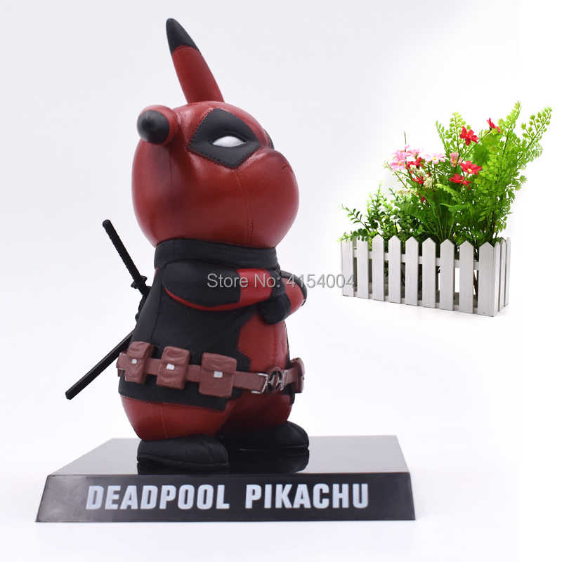 Anime Deadpool Pikachu Cosplay Deadpool Action Figure PVC Figurine  Collectible Model Christmas Gift Toys 15 cm
