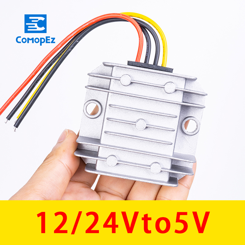 12 V 24 V DC Converter to 5V 5A 10A Car Power Supply Voltage Regulator Step-Down Module Waterproof 12V 24V Converter12 V 24 V DC Converter to 5V 5A 10A Car Power Supply Voltage Regulator Step-Down Module Waterproof 12V 24V Converter