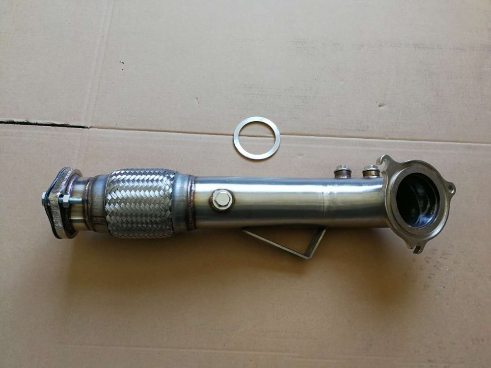 CATLESS FLEX TURBO DOWNPIPE STAINLESS FOR 14-17 FORD FIESTA ST 1.6L ECOBOOST