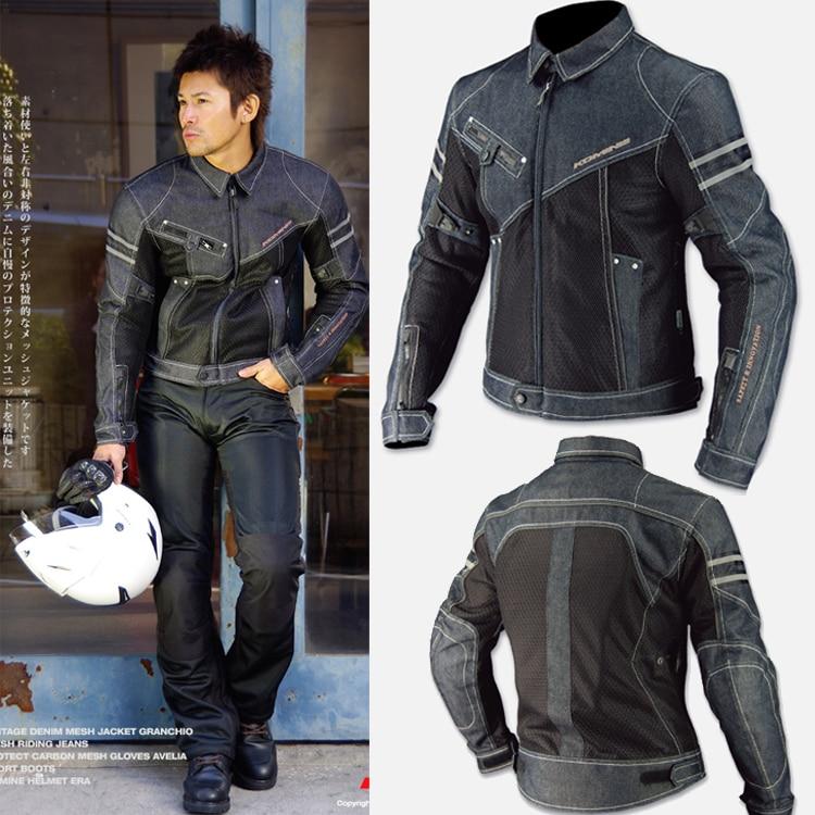 2018 New KOMINE JK006 spring breathable Denim mesh racing ride high performance drop resistance clothing motorcycle