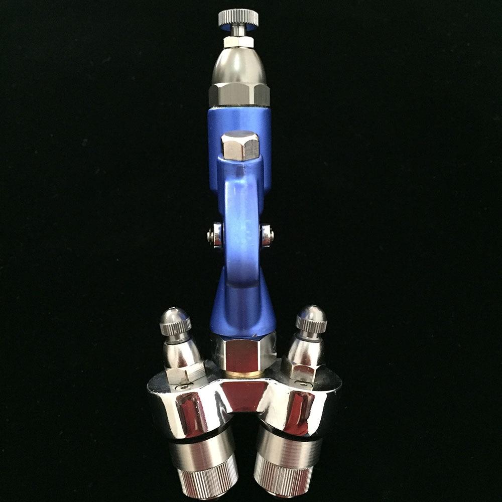 SAT1201 dupla bico pulverizador pressão de dupla ação airbrush pistola de pintura pistola de pintura para nano revestimento de cromo manual do tipo de alimentação arma