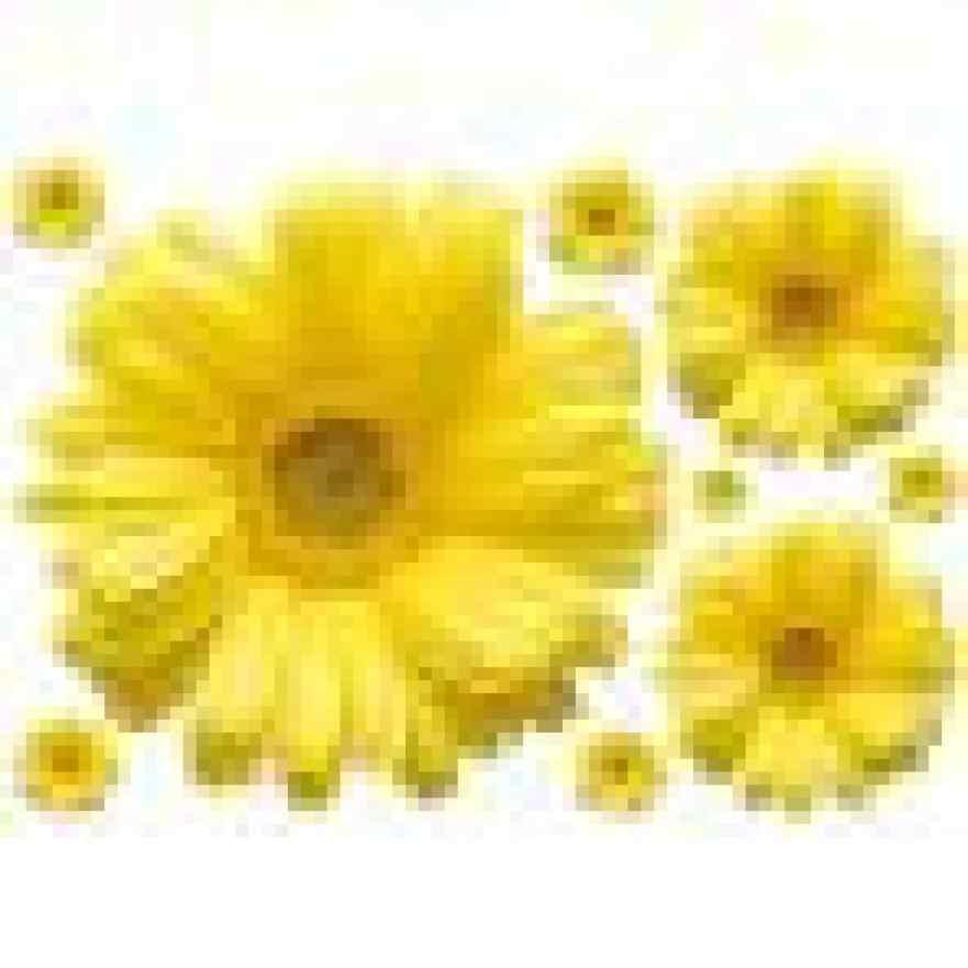 JY 20 2017 Heißer Verkauf Neue Gelbe Chrysanthemen Wandaufkleber Aufkleber-ausgangsdekor für Wohnzimmer Schlafzimmer Studie TV Wand 421