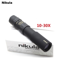 Original Binoculars Nikula 10 30x25 Zoom Monocular High Quality Telescope Pocket Binoculo Hunting Optical Prism Scope