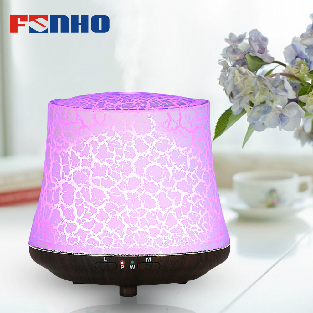 FUNHO Electric Wood Humificador Grain Air Purifier Humidifier Essential Oil Fragrance Aroma Diffuser LED Night Light For Home funho aroma diffuser mini air humidifier oil humificador aromaterapia para casa 5 color selectable for home office car 078