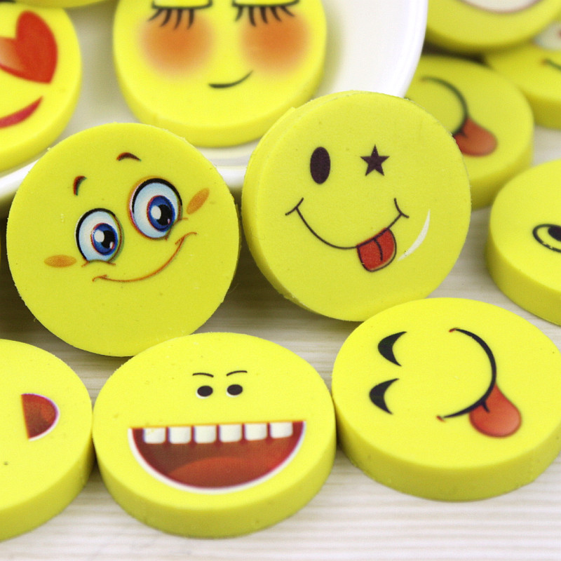 4 Pcs Kids School Supplies New Lovely Funny Smile Face Cute Smiley Face Eraser The Creative Eraser Of Styles Random Send u pick fashion lovely smile face transparent tpu backpack