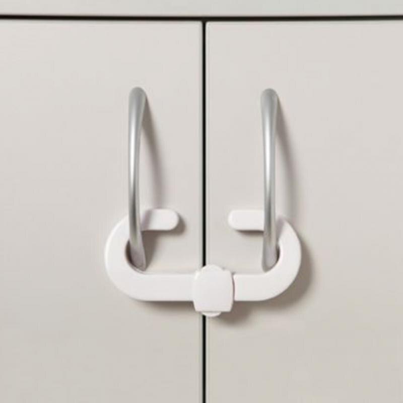 1PCS/4Pcs C Shape White Kitchen Drawer Cupboard Door Drawer Fridge Box Kids Baby Safety Safe Lock Furniture Protect Lock
