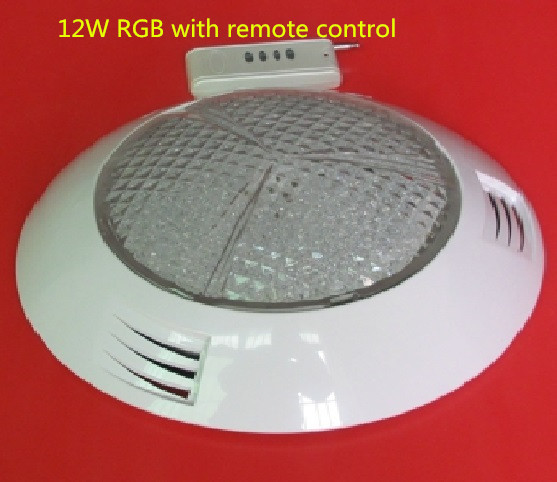 12*1W wall mounted led swimming pool light,RGB remote control, white/blue/green/yellow /rgb IP68 AC12V underwater light 4pcs/lot hot sale stainless steel pc remote control underwater light ip68 par56 72w rgb ac12v led swimming pool light safe in used