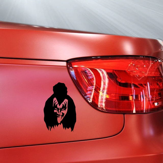 The famous rock band horror terrible devil mask gene simmons kiss sticker motorhome truck window car