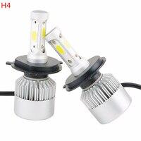 2pcs Upgrade H4 H7 COB LED Headlight Head Lamp Bulb Car LED Headlight Bulb 6000K 270W