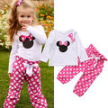 spring cute minnie Mouse 1-6Y Toddler Infant Baby Kid Girls Clothes T-shirt Tops+Pants Leggings Outfits Set Children clothes
