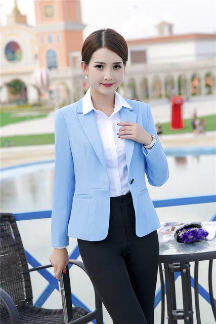 Formal Office Uniform Designs Women Pant Suits Black Blazer And Jacket Sets Elegant Las Work Wear Business Female Clothes
