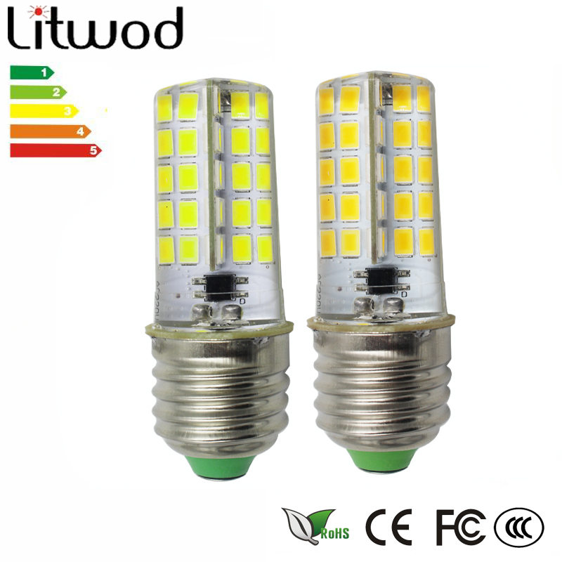 Led Bulbs & Tubes Kind-Hearted Litwod Z20 Silicone Corn Dimming Lamp 80 Leds Ac220v Ac110v Base E12 E14 E17 E27 G9 G8 G4 Ba15d Optional Cold White/warm White Professional Design