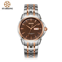 STARKING Men's Luxury Automatic Self-wind Stainless Steel Wrist Watch Rose Gold Elegant Men Watches With Sapphire Crystal AM0152