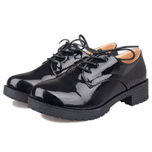 Women Platform Flats 2016 Autumn High Quality Oxfords Solid Plain PU Leather Creepers Casual Oxford Shoes Woman