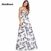 RENBANG Women Summer Boho Dress Vestidos Largos Robe Femme Beach Dress Plus Size Bohemian Maxi Dress