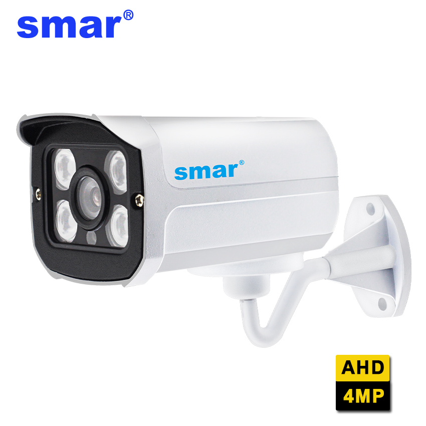 Smar Super HD 4MP AHD Camera Outdoor Waterproof Security CCTV Video Surveillance Camera Bullet Camera 4*Array Infrared IR-CUT smar super hd 3mp 4mp ahd security camera ahdh outdoor waterproof cctv bullet camera home video surveillance 36 ir leds camera
