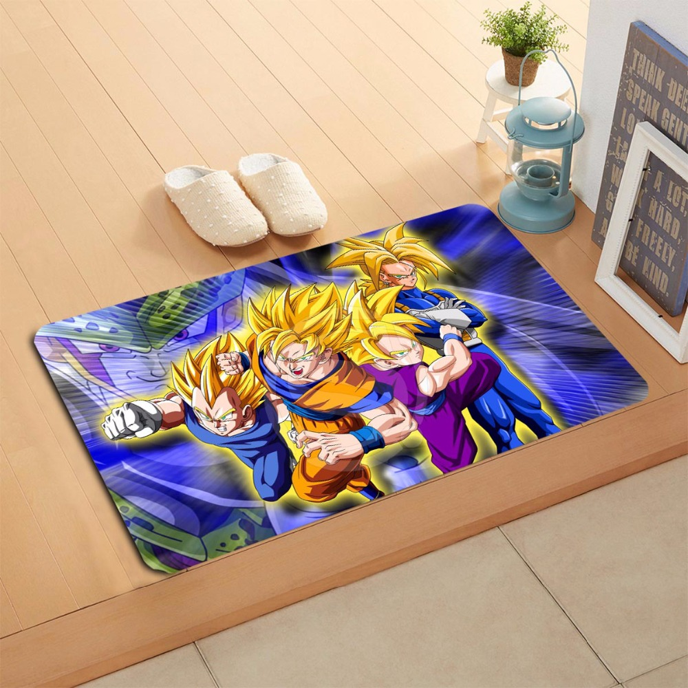 W620 1 Custom Dragon Ball Z Anime Watercolor Painting Doormat Home. Dragon Ball Z Bathroom Set   Kahtany