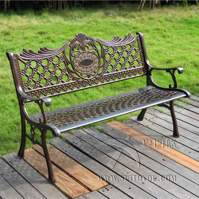 51 Patio Garden Bench Park Yard Outdoor Furniture Cast Aluminum
