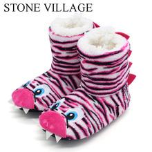 2018 New Girls Boys Slippers Dinosaur Cute Home Slippers Children Warm Soft Plush Children Cartoon Anime Indoor Slippers Shoes