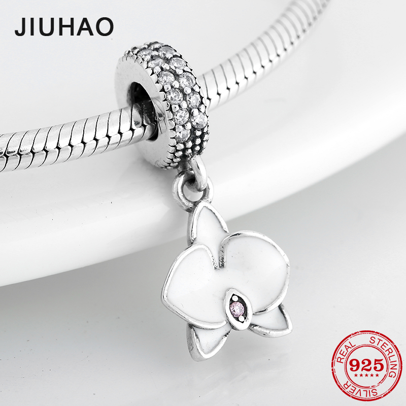 Like Butterfly Flowers 925 Sterling Silver Clear Crystal CZ fine Pendants Beads Fit Original Pandora Charm Bracelet JewelryLike Butterfly Flowers 925 Sterling Silver Clear Crystal CZ fine Pendants Beads Fit Original Pandora Charm Bracelet Jewelry
