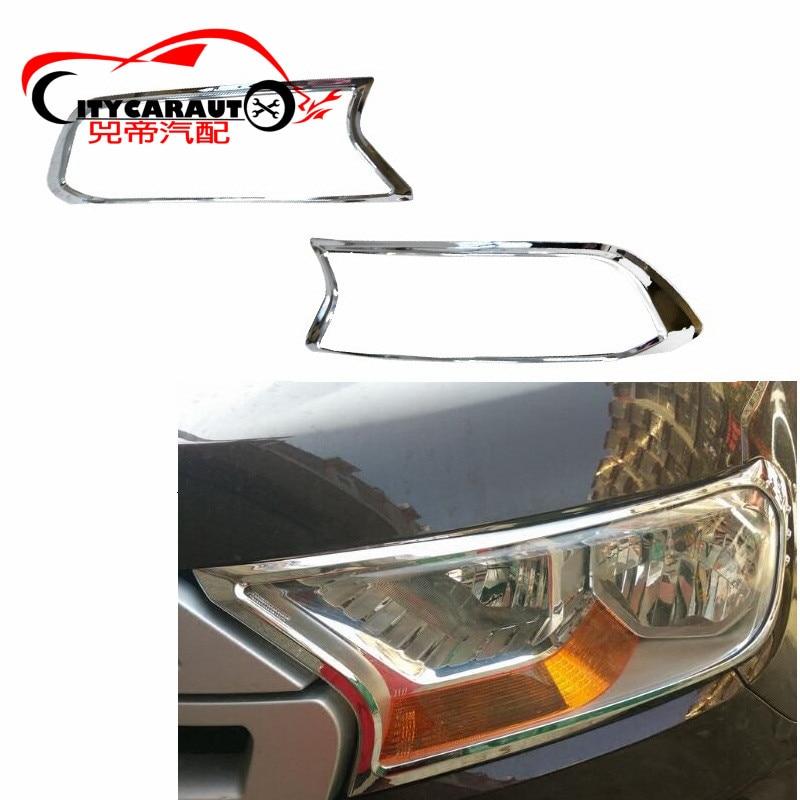 2015 2017 Suitable FOR Ranger T7 Chrome Kits ABS Chrome HEADLIGHTS COVER LAMP HOODS For RANGER EVEREST CAR STYLING 2015 2017