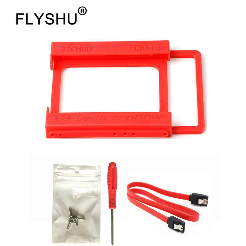 Hard Disk Stand 2.5 to <font><b>3.5</b></font> Inch Plastics Hard Disk Drive Mounting Bracket <font><b>Adapter</b></font> Sata3.0 cable Gift For Notebook PC <font><b>SSD</b></font> Holder image