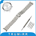 18mm 20mm 22mm Stainless Steel Watch Band Curved End Strap for Omega Watchband Butterfly Buckle Belt Replacement Wrist Bracelet